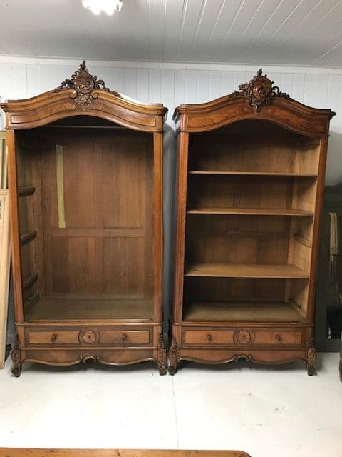 SOLD - Near Pair of Deeper Antique Armoires - Just In - Full Details Soon - b11